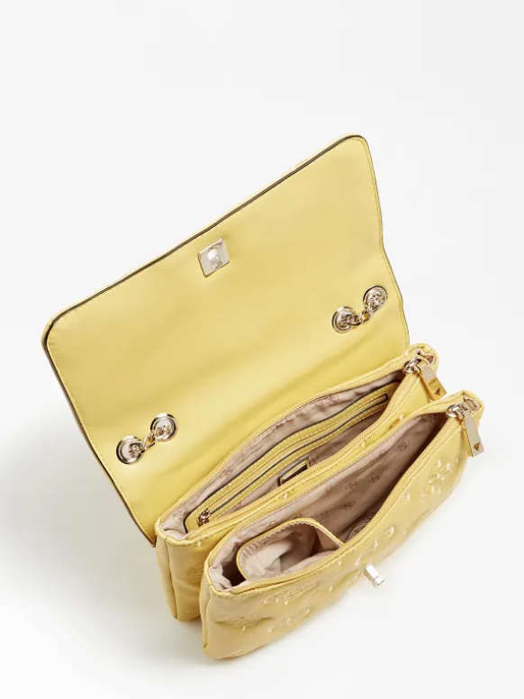 Guess Chic Convertible Flap Bag Yellow