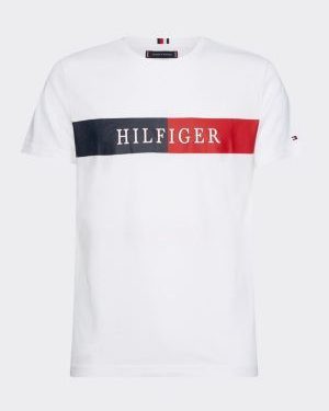 Tommy Hilfiger Block Stripe T-shirt White