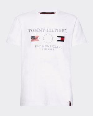 Tommy Hilfiger Anchor Flags T-shirt White
