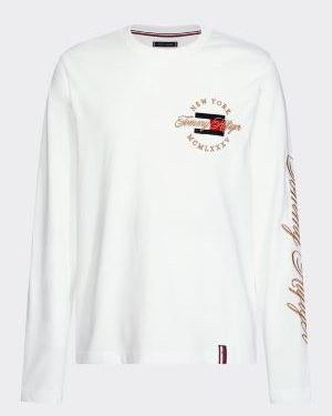 Tommy Hilfiger Icon Longsleeve T-shirt White