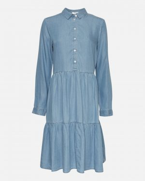 Moss Copenhagen Philippa Shirt Dress Blue Wash