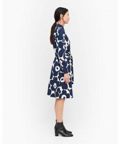 Marimekko Ylväs Pieni Unikko Dress Blue