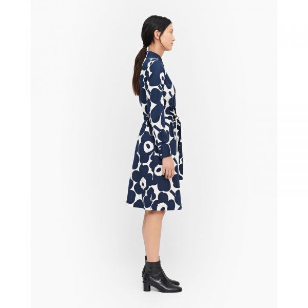 Marimekko Ylväs Pieni Unikko Dress Blue