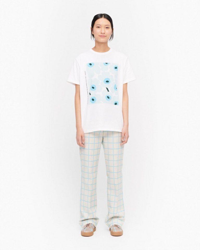 Marimekko Nokkela Unikko Placement T-paita White