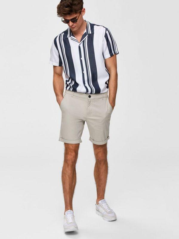 Selected Homme Paris Regular Fit Shorts Moonstruck