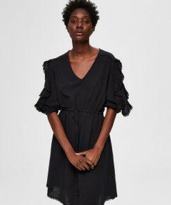Selected Femme Jenny Short Dress Black
