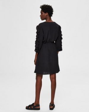 Selected Femme Jenny Short Dress Black