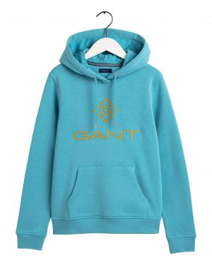 Gant Colour Lock-up Hoodie Seafoam blue
