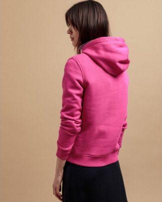Gant Colour Lock-Up Hoodie Rich Pink