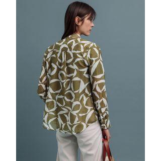Gant Crescent Bloom Blouse Olive Green