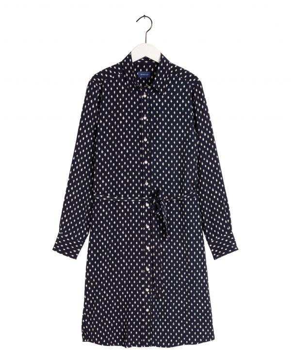 Gant Desert Jewel Shirt Dress Evening Blue