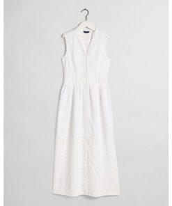 Gant Broidery Anglais Mix Dress White