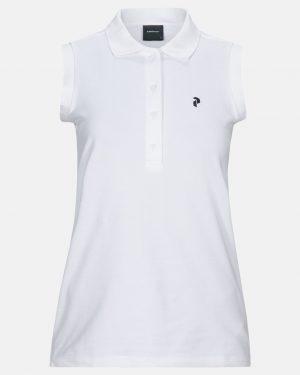 Peak Performance Short Sleeve Polo Shirt White