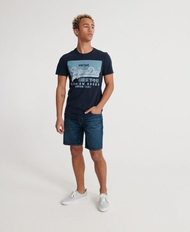 Superdry Vintage Logo T-shirt Nautical Navy