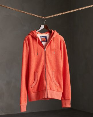 Superdry Orange Label Classic Zip Hoodie Grenadine Birdseye