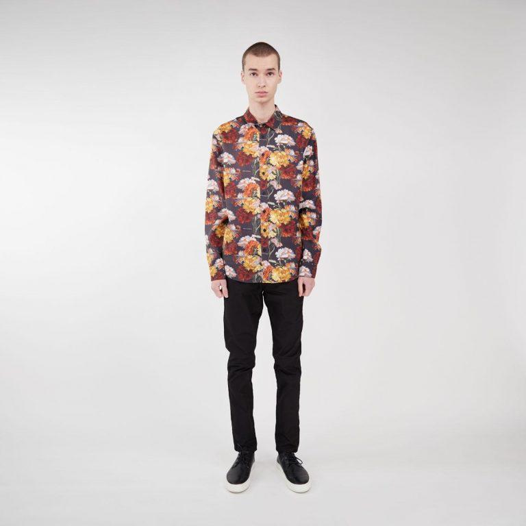 Makia x Von Wright Flowers Shirt Black