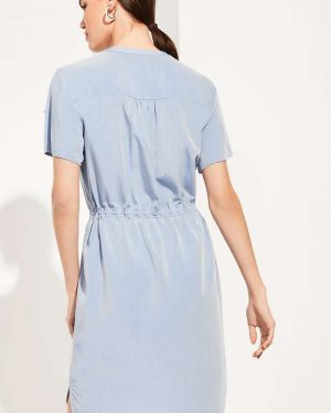 Comma Blouse Tunic Blue