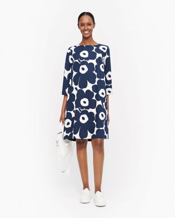 Marimekko Unelma Pieni Unikko Dress Blue