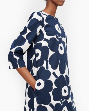 Marimekko Unelma Pieni Unikko Dress Blue