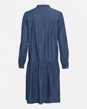 Moss Copenhagen Rida Lyanna Ls Dress Mid Blue