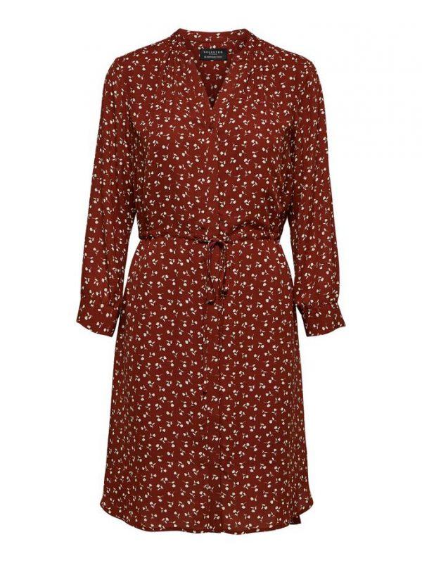 Selected Femme Damina Dress Smoked paprika