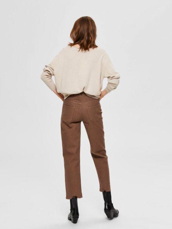 Selected Femme Finka Cashmere Knit Beige