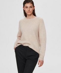 Selected Femme Lulu O-neck Knit Birch