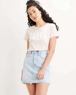 Levi's The Perfect Tee Serif Logo Sepia Rose
