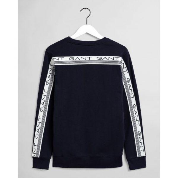 Gant 13 Stripes C-neck Sweater Evening Blue