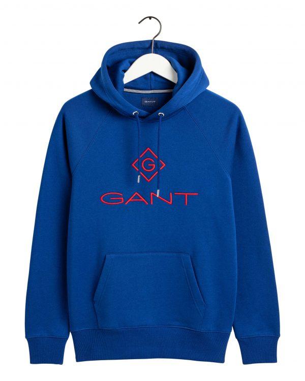 Gant Color Lock-up Hoodie Crisp blue