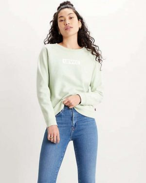 Levi's Relaxed Boxtab Crew Sweatshirt Green