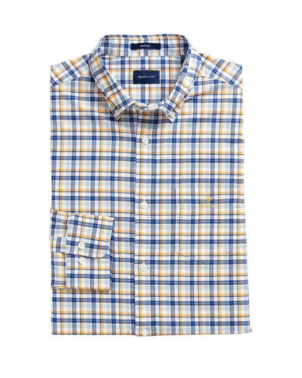 Gant Oxford Madras Shirt Ivy gold