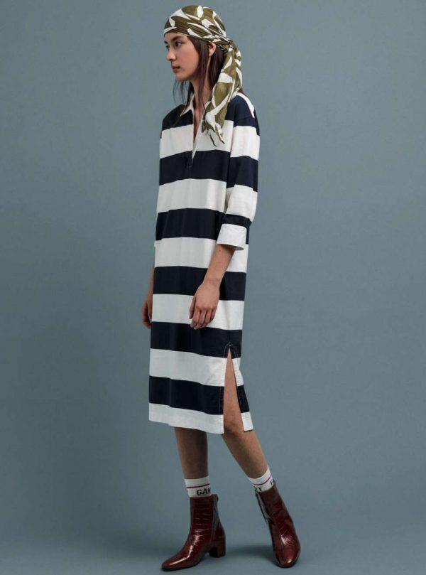 Gant Feminine Striped Rugger Dress Blue