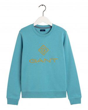 Gant Colour Lock up Sweater Seafoam blue