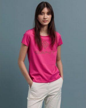 Gant Colour Lock-up T-shirt Rich Pink