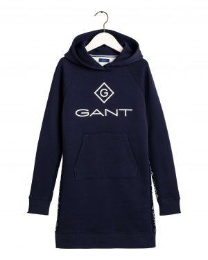 Gant Teens Stripe Hoodie Dress Blue