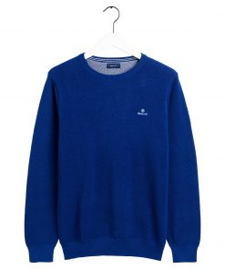 Gant Cotton Pique Crew Crisp blue