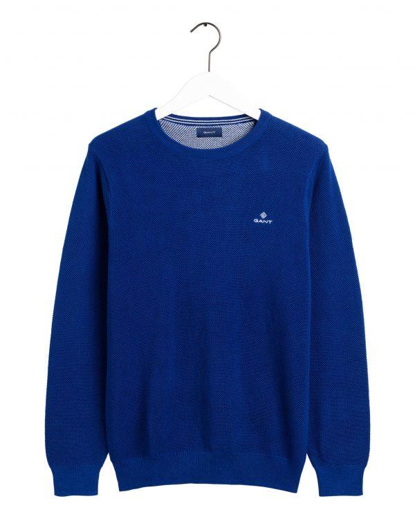 Gant Cotton Pique Crew Crisp blue