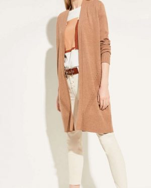 Comma Long Cardigan Brown