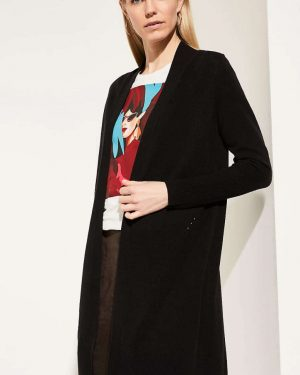 Comma Long Cardigan Black