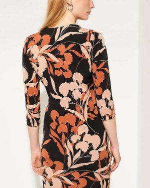 Comma Dress Flower Black