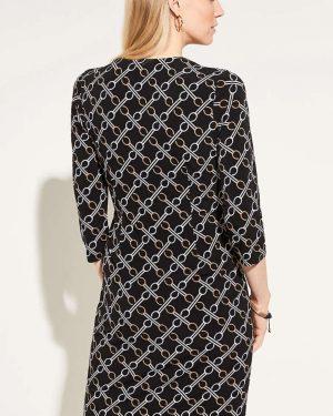 Comma Dress Chain Black