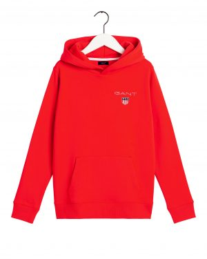Gant Teens Medium Shield Hoodie Atomic Orange