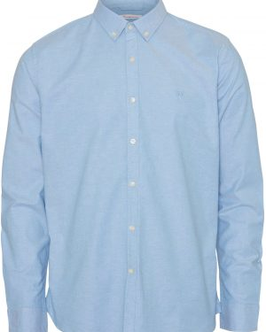 Knowledge Cotton Apparel Elder Regular Fit Shirt Blue