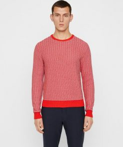 J.Lindeberg Chester Structure Knit Racing Red