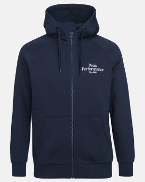 Peak Performance Original Zip Hood Men Blue Shadow