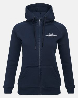 Peak Performance Original Zip Hoodie Women Blue Shadow