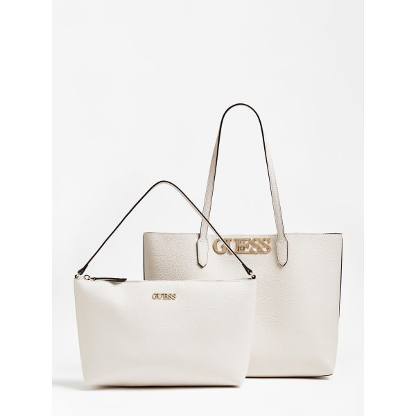 Guess Uptown Chic Tote Bag Stone