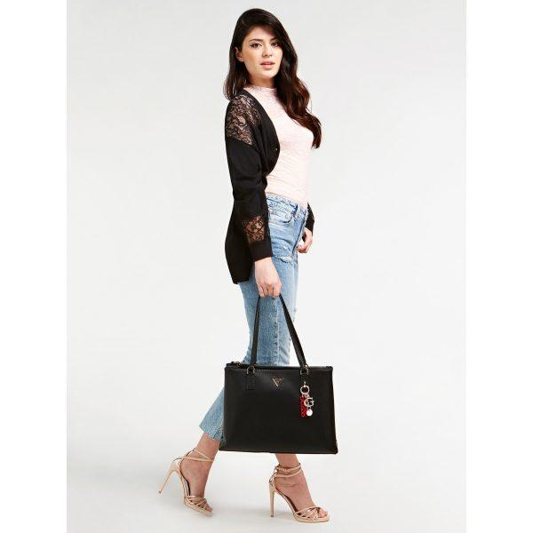 Guess Becca Luxury Satchel Bag Black