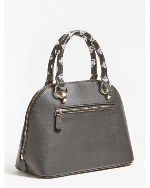 Guess South Bay Dome Satchel Black